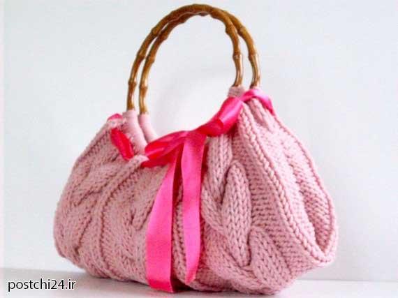 آموزش کیف بافت, آموزش کیف بافت با میل, آموزش کیف بافت دخترانه, آموزش کیف بافتنی زیبا