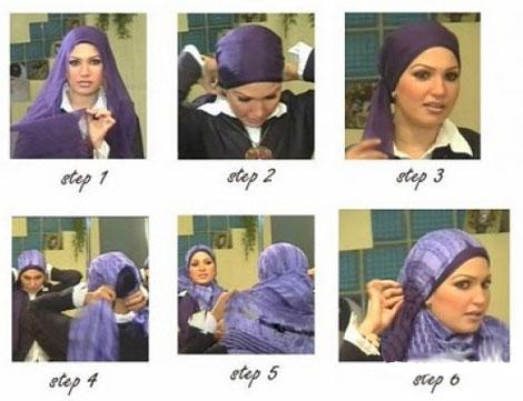 آموزش تصویری مرحله به مرحله بستن شال و روسری