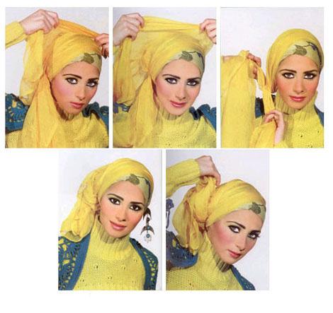 آموزش مرحله به مرحله بستن شال و روسری