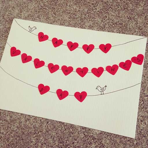 ایده برای ساختن کارت پستال عاشقانه