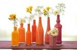 با استفاده از بطری های دور ریختنی گلدان های شیک بسازید