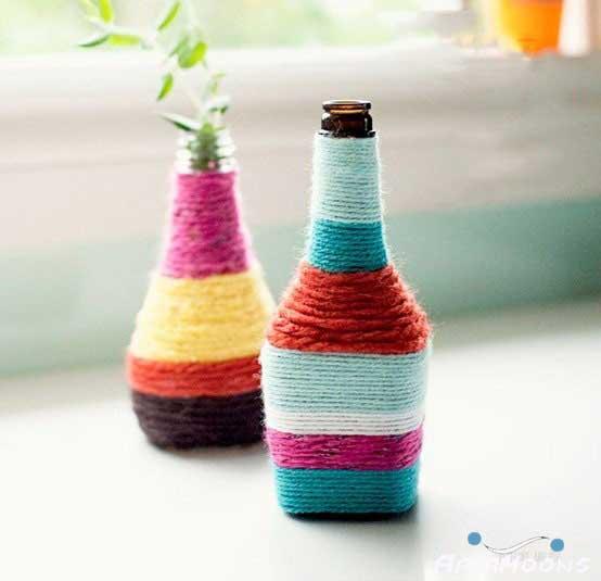 با بطری های دور ریختنی لوازم زیبا بسازید !!!