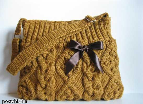 آموزش کیف بافت دخترانه,آموزش کیف بافت,آموزش کیف بافت,آموزش کیف بافت با میل,آموزش کیف بافتنی زیبا